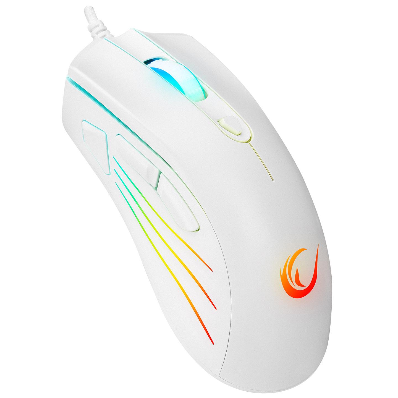 Rampage SMX-R33 LIMBO Makrolu Beyaz 6400dpi RGB Ledli Gaming Oyuncu Mouse