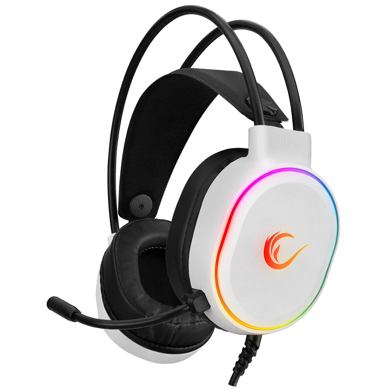 Rampage ROGUE Beyaz USB RGB Ledli Gaming Oyuncu Mikrofonlu Kulaklık
