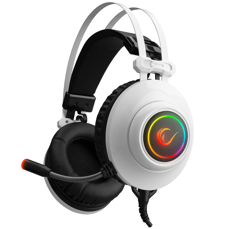 Rampage RM-K1 PULSAR Beyaz Usb 7.1 Surround+Titreşim RGB Işık Efektli Gaming Oyuncu Mikrofonlu Kulaklık