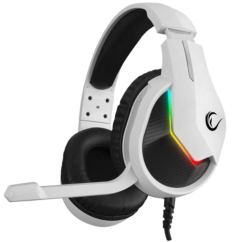 Rampage MAGE Beyaz 7.1 Surround Sound USB RGB Ledli Gaming Oyuncu Mikrofonlu Kulaklık
