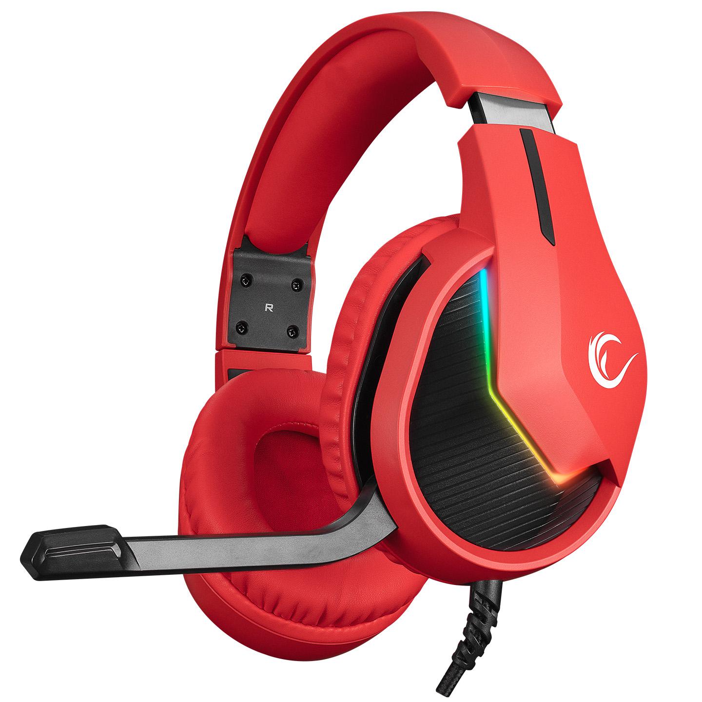 Rampage MAGE Kırmızı 7.1 Surround Sound USB RGB Ledli Gaming Oyuncu Mikrofonlu Kulaklık