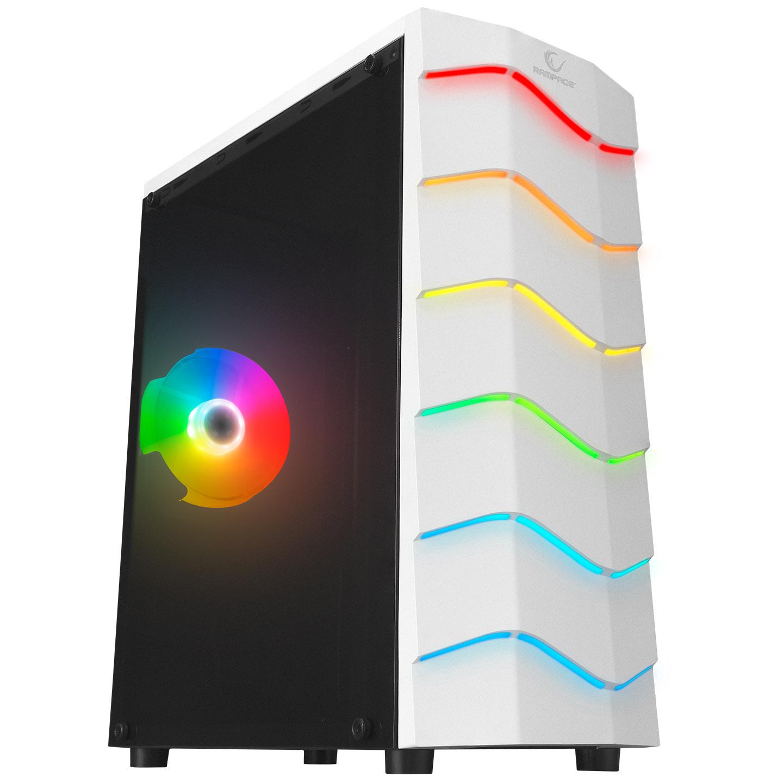 Rampage ARC-X RGB Ledli Beyaz Acrylic Panel 120mm Fanlı Gaming Oyuncu Kasası