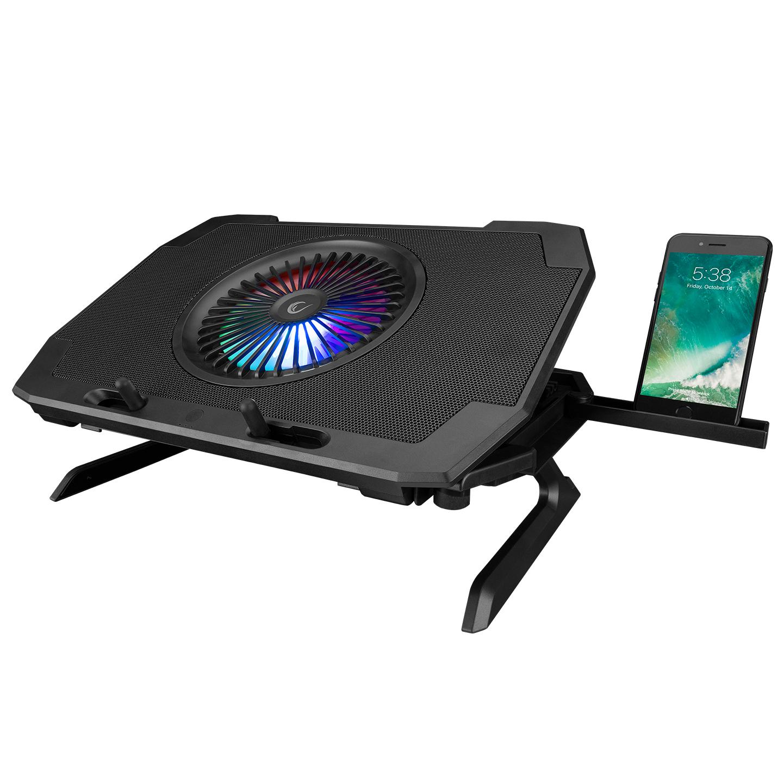 Rampage AD-RC21 X-CooL Siyah 5 Fanlı 10-18 RGB Işıklı Notebook Soğutucu Stand