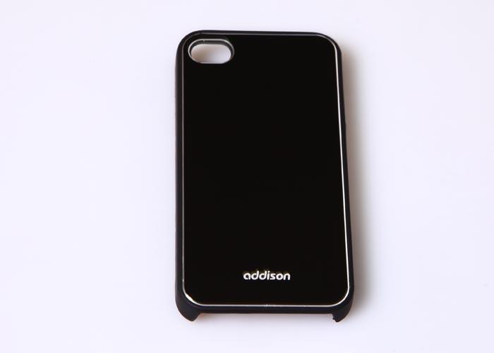 Addison IP-400 Siyah Iphone 4, 4S Kılıfı + Şeffaf Ekran Koruyucu