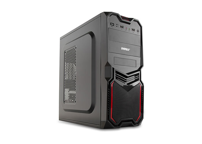 Everest 701B Peak-250W Siyah 2*Sata+20+4 Pin Kasa