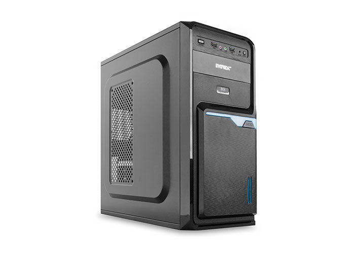 Everest 715B Peak-250W Black 2 * Sata + 20 + 4 Pin Case