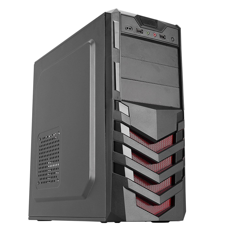 Everest 720R Peak-250W Siyah/Kırmızı 2*Sata Mesh Metal Panel Kasa