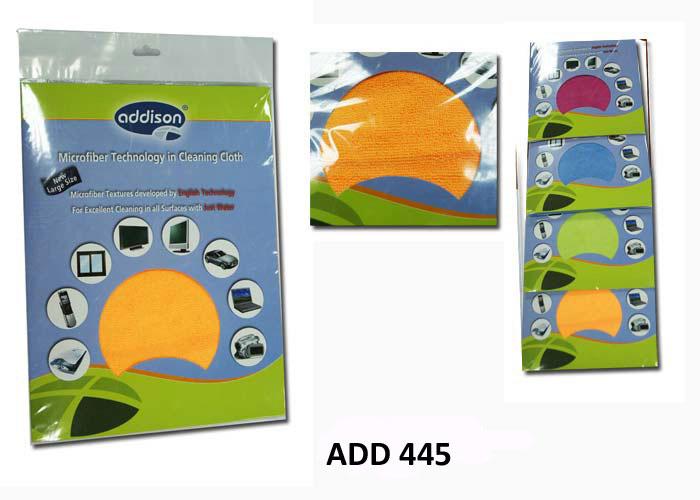Addison ADD-445 35*35cm Mavi Microfiber Temizleme Bezi