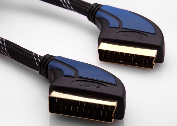 S-link SLX-937 SCART 5m Gold+Kılıflı Kablo