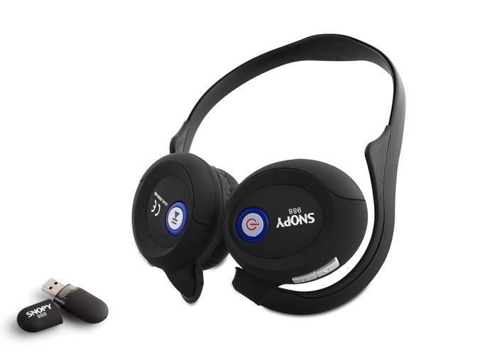 Snopy 988 2.4Ghz Siyah Kablosuz Mikrofonlu Kulaklık