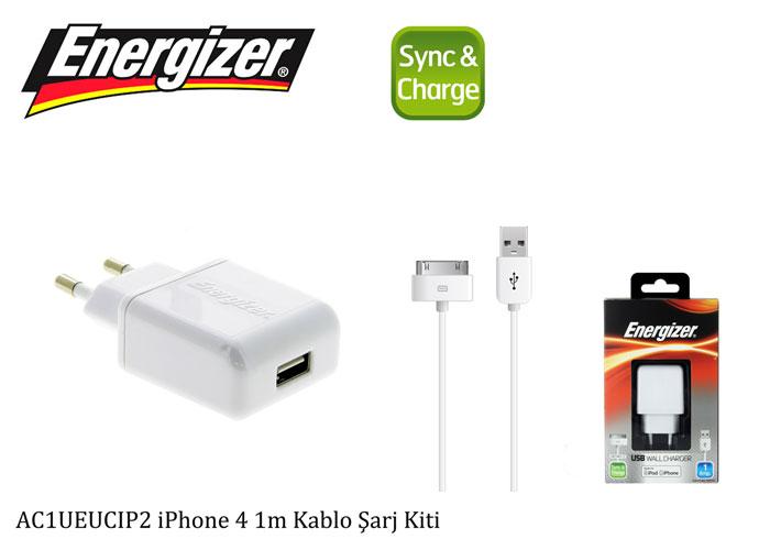 Energizer AC1UEECIP2 iPhone 4 1m Kablo Şarj Kiti