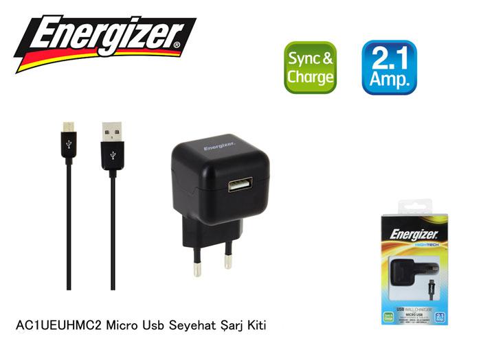 Energizer AC1UEUHMC2 Micro Usb 2100MA Seyahat Şarj Kiti