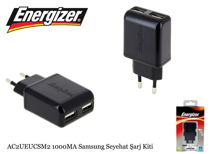 Energizer AC2UEUCSM2 1000MA Samsung Seyehat Hızlı Şarj Kiti