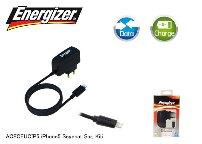 Energizer ACFCEUCIP5 iPhone5 Classic 1000MA Seyahat Şarj Kiti