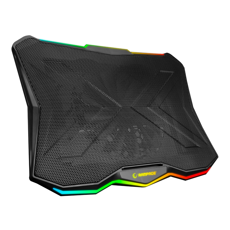 Rampage AD-RC8 SHOWY Siyah 180mm Fan 15-17 RGB Işıklı Notebook Soğutucu Stand