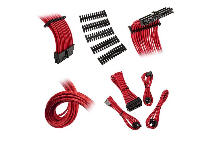 BitFenix ALCHEMY 2.0 24Pin CPU4+4Pin/PCI-E 16AWG Kırmızı Extension Kablo Kiti
