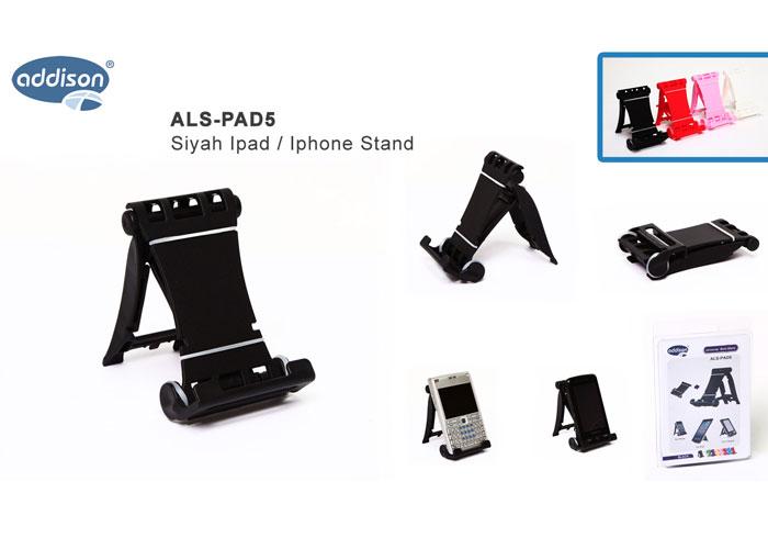 Addison ALS-PAD5 Siyah Ipad / Iphone Stand