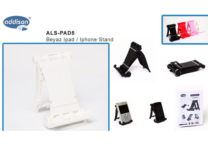 Addison ALS-PAD5 Beyaz Ipad / Iphone Stand