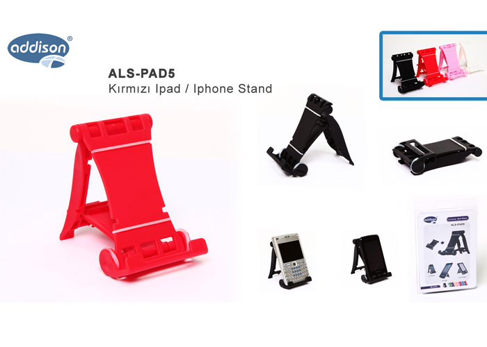 Addison ALS-PAD5 Red Ipad / Iphone Stand