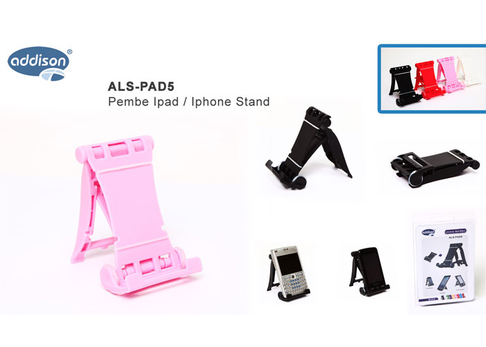 Addison ALS-PAD5 Pembe Ipad / Iphone Stand