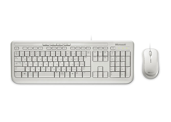 Microsoft APB-00024 Beyaz Usb 600 Q Multimedia Klavye Mouse Set