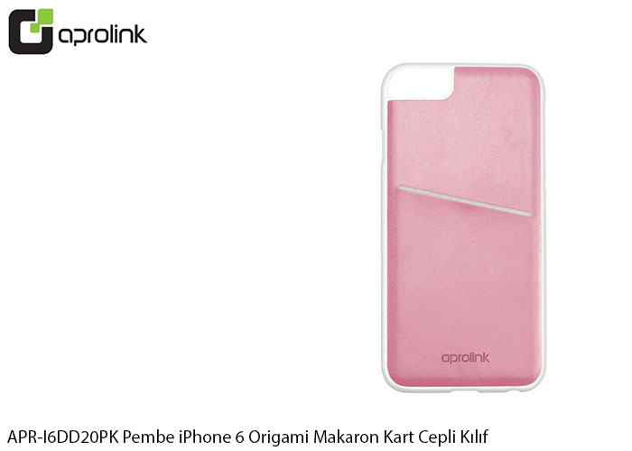 Aprolink APR-I6DD20PK Pembe iPhone 6 Origami Makaron Kart Cepli Kıl