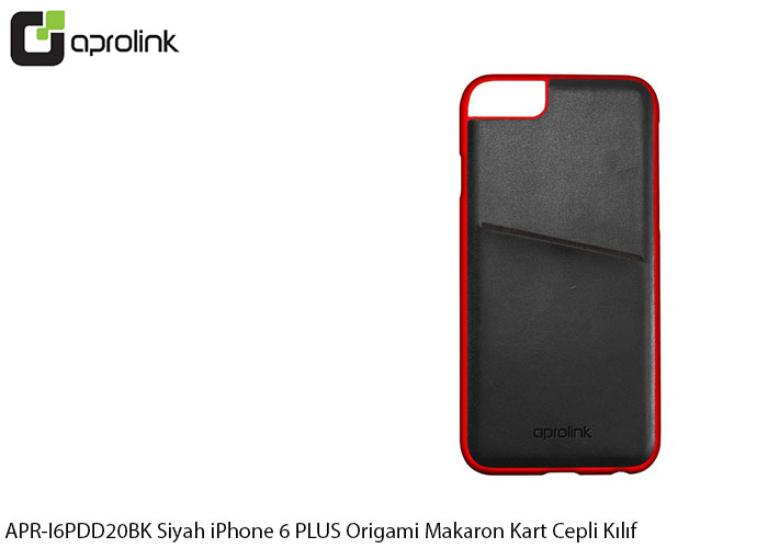 Aprolink APR-I6PDD20BK Siyah iPhone 6 PLUS Origami Makaron Kart Cepli Kıl