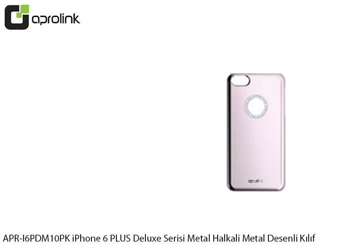 Aprolink APR-I6PDM10PK iPhone 6 PLUS Deluxe Serisi Metal Halkali Metal Desenli