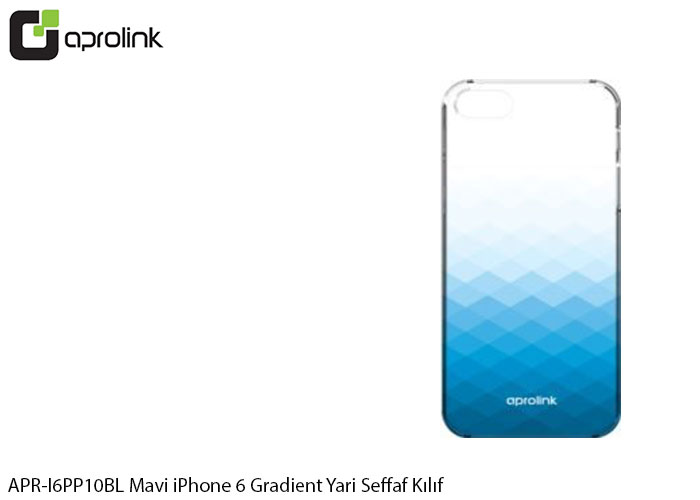 Aprolink APR-I6PP10BL Mavi iPhone 6 Gradient Yari Seffaf Kılıf
