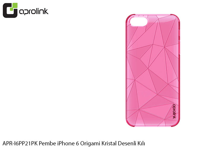 Aprolink APR-I6PP21PK Pembe iPhone 6 Origami Kristal Desenli Kılıf