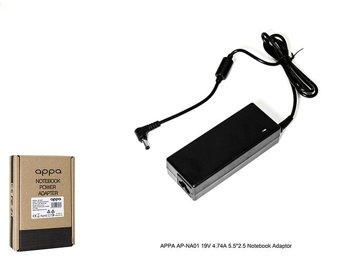 APPA AP-NA01 19V 4.74A 5.5*2.5 Notebook Adaptör
