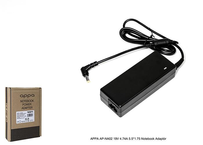 APPA AP-NA02 19V 4.74A 5.5*1.75 Notebook Adaptör