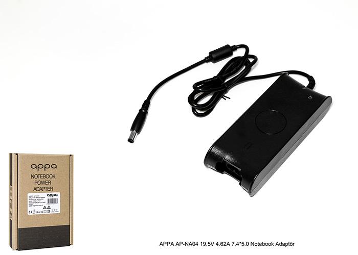 APPA AP-NA04 19.5V 4.62A 7.4*5.0 Notebook Adaptör