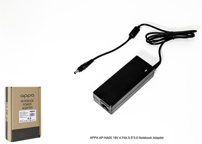 APPA AP-NA05 19V 4.74A 5.5*3.0 Notebook Adaptör