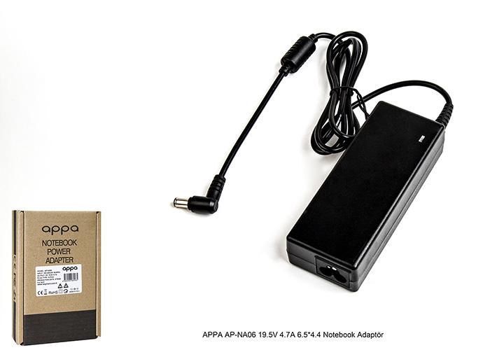 APPA AP-NA06 19.5V 4.7A 6.5*4.4 Notebook Adaptör