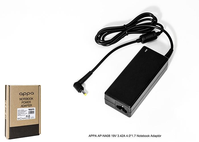 APPA AP-NA08 19V 3.42A 4.0*1.7 Notebook Adaptör