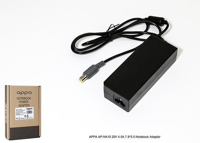 APPA AP-NA10 20V 4.5A 7.9*5.5 Notebook Adaptör