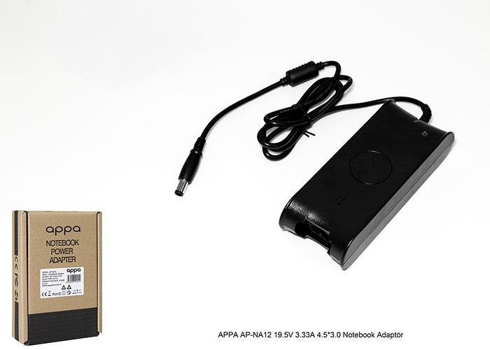 APPA AP-NA12 19.5V 3.33A 4.5*3.0 Notebook Adaptör