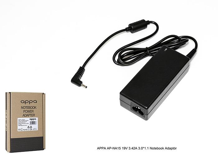 APPA AP-NA15 19V 3.42A 3.0*1.1 Notebook Adaptör