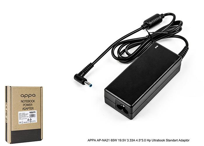 APPA AP-NA21 65W 19.5V 3.33A 4.5*3.0 Hp Ultrabook Standart Adaptör