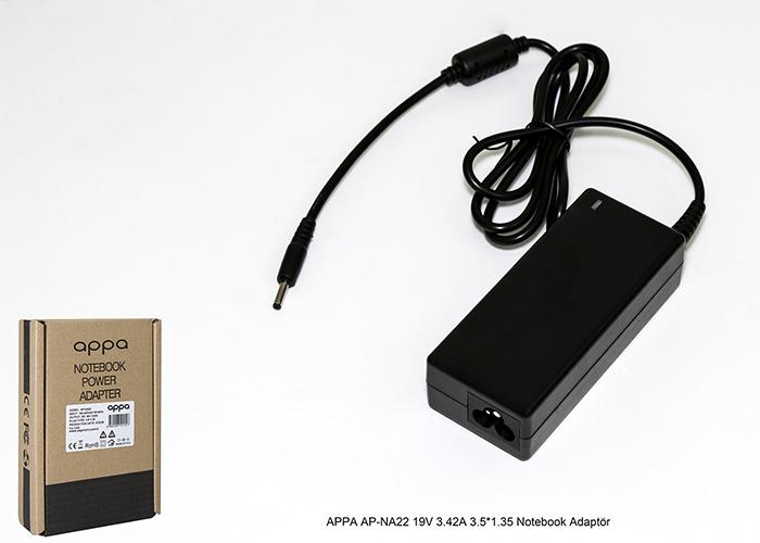 APPA AP-NA22 19V 3.42A 3.5*1.35 Notebook Adaptör