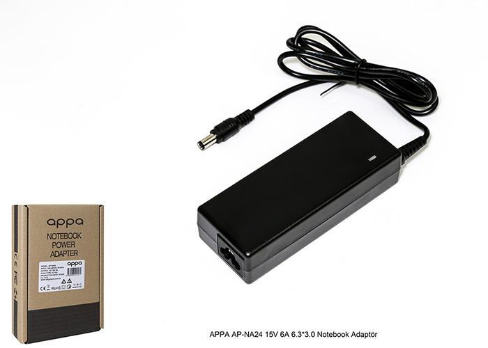 APPA AP-NA24 15V 6A 6.3*3.0 Notebook Adaptör