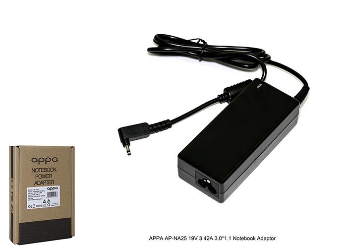 APPA AP-NA25 19V 3.42A 3.0*1.1 Notebook Adaptör