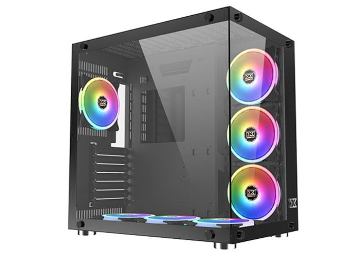 Xigmatek EN43354 AQUARIUS PLUS 7*120cm Fanlı Tempered Camlı 1*Usb3.0 2*Usb2.0 Gaming Oyuncu Kasası