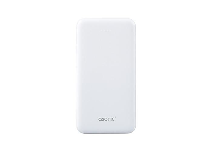 Asonic AS-P10 10000mAh 2*USB Output Powerbank Beyaz Taşınabilir Pil Şarj Cihazı