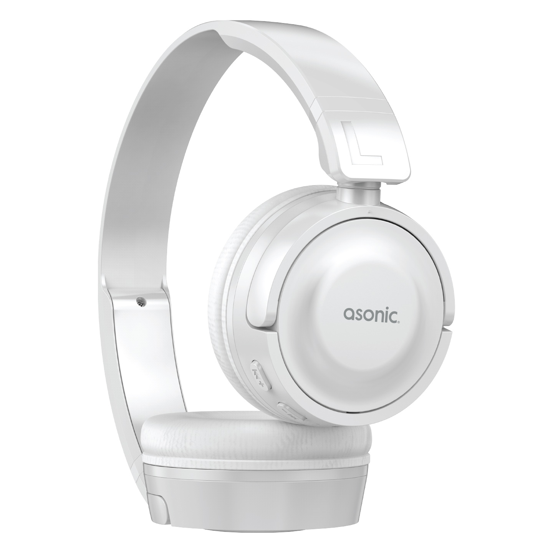 Asonic AS-XBK450 Beyaz TF Kart Özellikli Bluetooth Kulaklık
