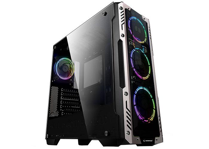 Rampage AZOR 4*12cm RGB Fanlı Siyah 1*Usb 3.0 + 2* Usb 2.0 Tempered Glass Oyuncu Kasası