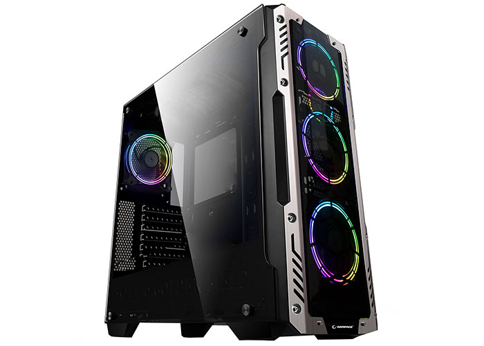 Rampage AZOR 4 * 12cm RGB Fan 600W 80 Plus Bronze Black Tempered Glass Gaming Case