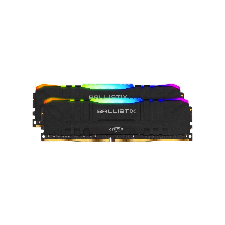 Ballistix Crucial BL2K16G32C16U4BL 2x16GB (32GB Kit) DDR4 3200MT/s CL16 Unbuffered DIMM 288pin Black RGB RAM