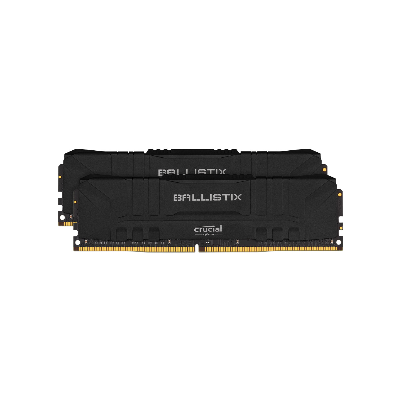 Ballistix Crucial BL2K8G32C16U4B 16GB (2x8GB) DDR4 3200MT/s CL16 Unbuffered DIMM 288pin Black RAM